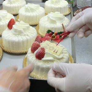 レアチーズケーキの飾り
