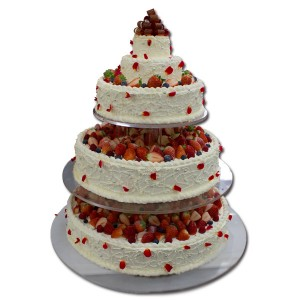 5段のウエディングケーキ