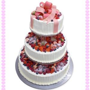 リボンのウエディングケーキ