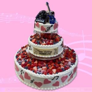 ピアノとギターのウエディングケーキ