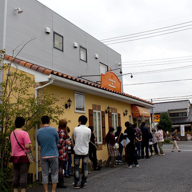 15周年ありがとうフェア初日の開店前の様子(2014.10.4)