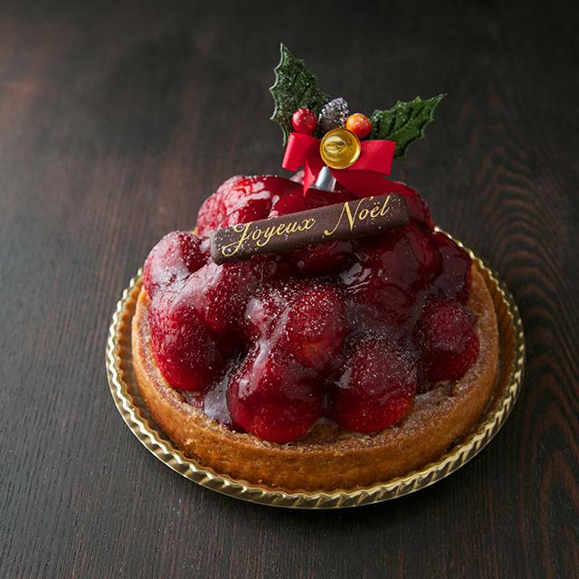 クリスマスケーキ2014の苺のタルト