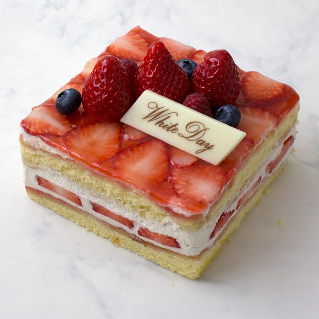 赤いショートケーキ★ホワイトデーバージョン