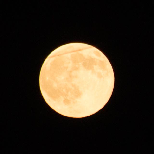 2015年7月31日19:40頃の月(ブルームーン)