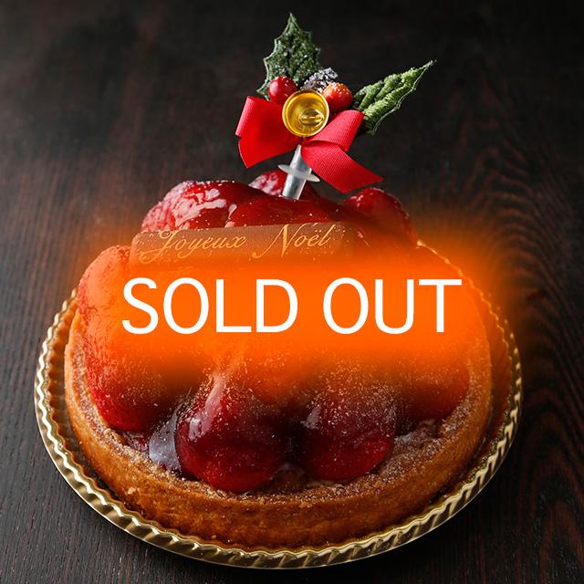 2015年クリスマスケーキご予約完売御礼したイチゴのタルト
