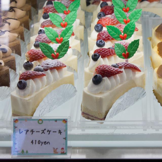 レアチーズケーキ★クリスマスデコレーション