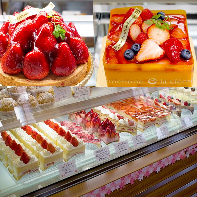 苺のケーキ色々