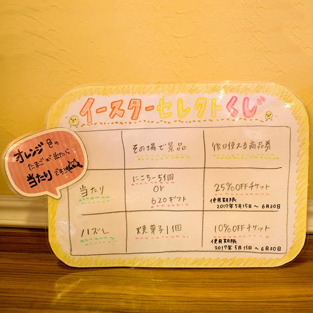 2017イースターエッグくじの賞品内容