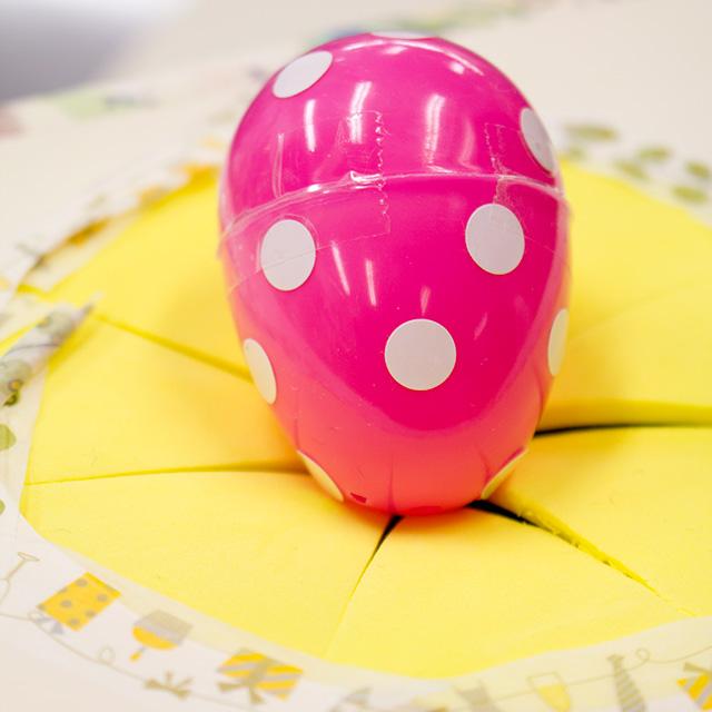 ピンクの卵
