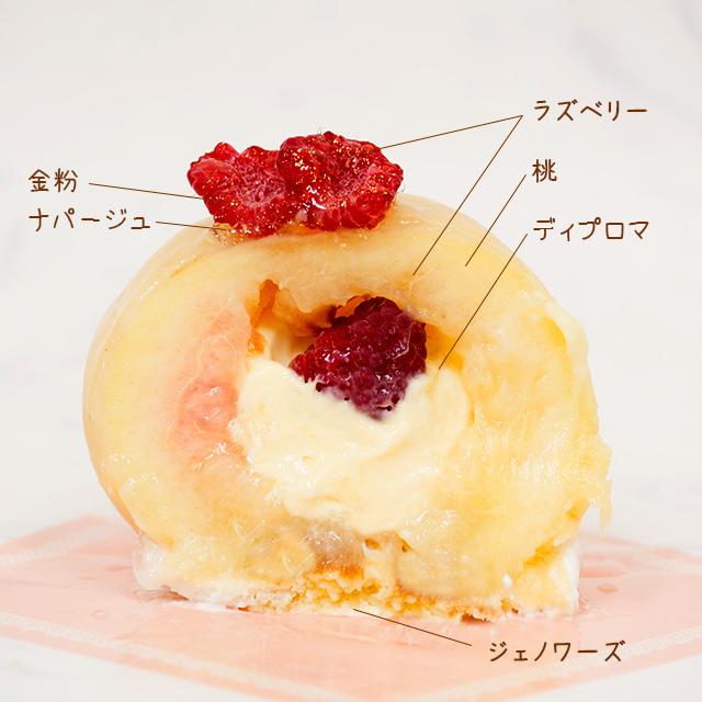 桃の果実の断面