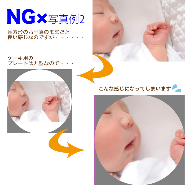 【NGパターン2】人物画像の配置に難あり