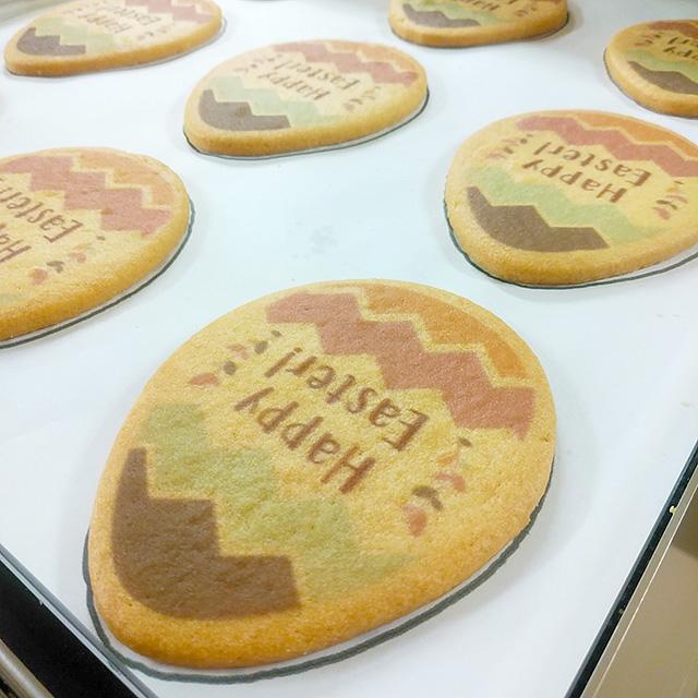 イースタークッキー印刷中