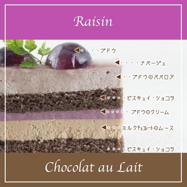 ぶどうとミルクチョコレートの短面